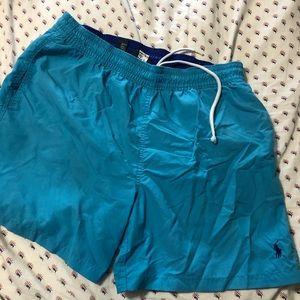 Polo men's bathing suit blue